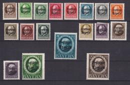 Bayern - 1919 - Michel Nr. 152/166 A + 168/170 A - Ungebr. - Bayern