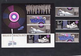 Malta/Malte 1971 - Christmas - Miled Malta 1971 - Minisheet + Stamps 3v - Complete Set - MNH** - Excellent Quality - Sovrano Militare Ordine Di Malta