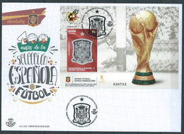 ESPAGNE SPANIEN SPAIN ESPAÑA 2020 MS CENT SOCCER FOOTBALL SELECCIÓN ESPAÑOLA DE FÚTBOL FDC ED HB5429 MI B5469 YT F5171 - FDC