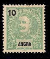 ! ! Angra - 1897 D. Carlos 10 R - Af. 15 - No Gum - Angra