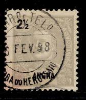 ! ! Angra - 1897 D. Carlos 2 1/2 R - Af. 13 - Used - Angra
