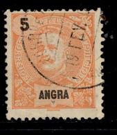 ! ! Angra - 1897 D. Carlos 5 R - Af. 14 - Used - Angra