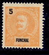 ! ! Funchal - 1897 D. Carlos 5 R - Af. 14 - MH - Funchal