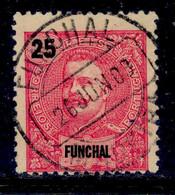 ! ! Funchal - 1898 D. Carlos 25r - Af. 28 - Used - Funchal