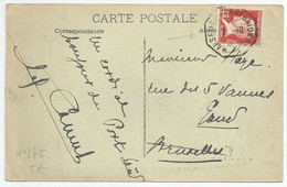 N° 175 (Pasteur 45c Rouge)ur CP (Port-Saïd,Jardin De Lesseps)O Maritime  La Réunion-Marseille - 1921-1960: Periodo Moderno