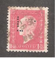 Perforé/perfin/lochung France No 691 L.N Léon Nicole - Perforés