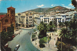 Maroc. Carte Postale. Tétouan. Place Moulay ElMehdi. Écrite.  Etat Moyen. Taches. Écorches. - Other