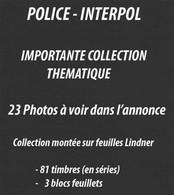POLICE - INTERPOL - POLIZEI  / IMPORTANTE COLLECTION / 23 SCANNAGES (ref 2794) - Policia – Guardia Civil