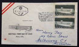 AUSTRIA,  Circulated FDC To Australia, « Tag Der Briefmarke », 1957 - FDC