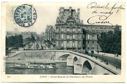 75001 PARIS - Lot De 3 CPA - Pont-Royal Et Pavillon De Flore - Cour Du Louvre - Place Du Carrousel - District 01