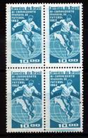 #9004 BRASIL BRAZIL1963 FOOTBALL SOCCER WORLD CUP 62 BICHAMPION CUADRE,BLOC OF 4  NEUF MNH POSTFRISCH - 1962 – Chili