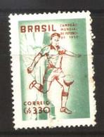 #9003 BRASIL BRAZIL1958 FOOTBALL SOCCER WORLD CUP 58 SWEDEN NEUF MNH POSTFRISCH - 1958 – Zweden