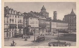 TORINO-PIAZZA CASTELLO-TRAM-CARTOLINA-NON VIAGGIATA -1915-1925 - Places