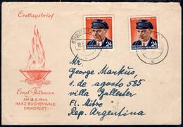 DDR - 1954 - Ersttagbrief - Ernst Thalmann - A1RR2 - FDC: Sobres