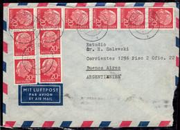 Deutsche Bundespost - 1959 - Brief - Verschiedene Briefmarken - Nach Argentinien Zirkuliert - A1RR2 - Cartas