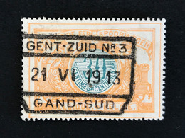 TR32 Gestempeld GENT-ZUID N° 3 GAND-SUD - 1895-1913