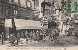 CARTE POSTALE   PARIS XVIII°  Le Boulevard De Clichy Et Le Moulin Rouge - Paris (11)