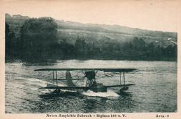 Hydravion - Avion Amphibie Schreck, Biplace 180 Cv (FBA 17) - Carte Avia N° 9 Non Circulée - 1919-1938