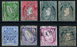 Eire Irlande 1923 Symbols 8 Stamps 6 Values Mi 40 41 43 45 47 48   Used See Condition - 1922-37 Stato Libero D'Irlanda