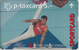 SWITZERLAND - PHONE CARD - TAXCARD PRIVÉE ***  SPORTCARD & CHEVAL D'Arçon  *** - Schweiz