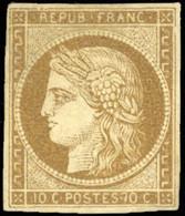 ** 1a -  10c. Bistre-brun. TB. - 1849-1850 Ceres