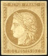 * 1 -  10c. Bistre-jaune. SUP. - 1849-1850 Ceres