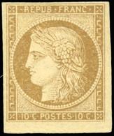 * 1 -  10c. Bistre-jaune. Petit BdeF. SUP. - 1849-1850 Ceres