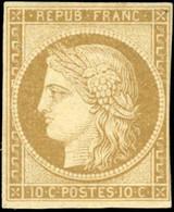 * 1 -  10c. Bistre-jaune. Marge Courte à Droite. Petite Gomme. - 1849-1850 Ceres