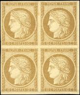 * 1 -  10c. Bistre. Bloc De 4. TB. - 1849-1850 Ceres