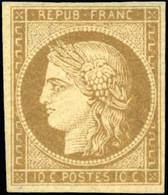 * 1a -  10c. Bistre-brun. Belles Marges. SUP. - 1849-1850 Ceres