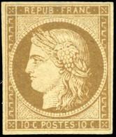 * 1a -  10c. Bistre-brun Foncé. Très Belle Couleur. Très Frais. SUP. - 1849-1850 Ceres