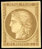 * 1a -  10c. Bistre-brun. Nuance Très Foncée. SUP. - 1849-1850 Ceres