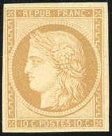 * 1f -  10c. Bistre-clair. Réimpression. Belles Marges. SUP. - 1849-1850 Ceres
