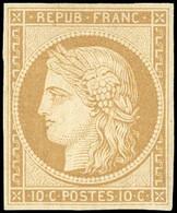 (*) 1f -  10c. Bistre Clair. Réimpression. SUP. - 1849-1850 Ceres