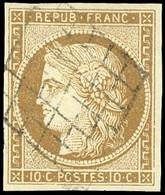 * 1c -  10c. Bistre-verdâtre. Obl. Losange. SUP. - 1849-1850 Ceres