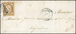 O 1a -  10c. Bistre-brun Obl. Grille S/lettre Locale Frappée Du CàD D'ANGOULEME Du 1er Octobre 1851. Cote Maury. TB. - 1849-1850 Ceres