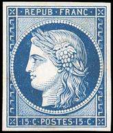 (*) 2 -  Essai Du 15c. En Bleu S/papier Bristol. TB. - 1849-1850 Ceres