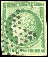 O 2 -  15c. Vert Foncé. Obl. TB. - 1849-1850 Ceres