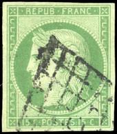 O 2 -  15c. Vert. Obl. Grille. B. - 1849-1850 Ceres