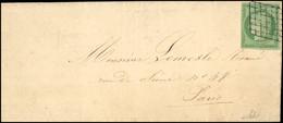 O 2a -  15c. Vert-clair Obl. Grille S/lettre Locale De PARIS Du 26 Février 1851. Arrivée PARIS (60) Le 27. SUP. - 1849-1850 Ceres