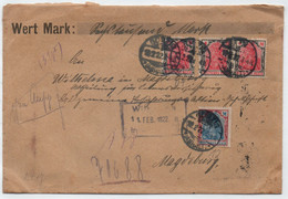 GORZIG - ALLEMAGNE / 1922 LETTRE CHARGEE - WERTBRIEF => MAGDEBURG (ref LE4281) - Covers & Documents