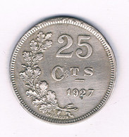 25  CENTIMES 1927 LUXEMBURG /8195/ - Lussemburgo