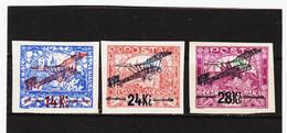 CAO271 TSCHECHOSLOWAKEI 1920 Michl 192/94 (*) FALZ SIEHE ABBILDUNG - Czechoslovakia