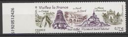 N°713 Y.T. Neuf **  EUROPA Visitez La France  T.Autoadhésif 2012 Emis En Feuille - Sellos Autoadhesivos