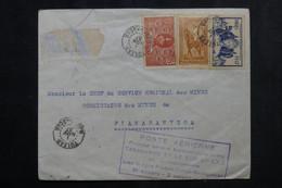 MADAGASCAR - Enveloppe De Yulear Pour Fianarantsoa En 1937 Par 1er Vol Hebdomadaire - L 73373 - Storia Postale