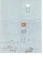 Yvert N° 16  / Lettre Oblitérée 2887  PC SEURRE ( 20 ) - 1853-1860 Napoléon III