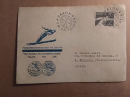 SVEZIA THE WORLD SKI CHAMPION SHIPS  FALUN  ARE  1954     BUSTA COMMEMORATIVA - Schweden