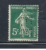 Y & T  N°  137  Perforé  F. F.  45  Ind  6 (26§07) - Gezähnt (Perforiert/Gezähnt)