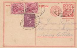 Entier Inflation Obliteration De Gare 25.07.1922 - Postwaardestukken