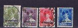 Rumänien 1930, Michel-Nr. 363, 364, 366, 371 Gestempelt / Used - 1918-1948 Ferdinand, Charles II & Michael
